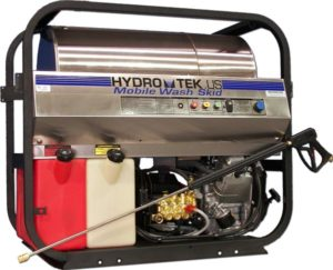 Hydro Tek SS Series Mobile wash skid: a 5000 PSI diesel fired heated pressure cleaner.